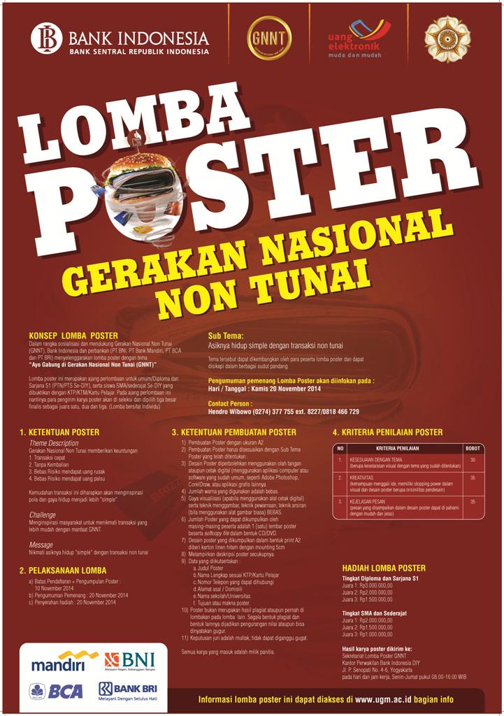 Universitas Gadjah Mada:Lomba Poster Berhadiah Jutaan ...