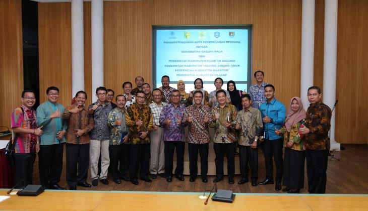UGM Jalin Kerjasama Dengan 4 Kabupaten