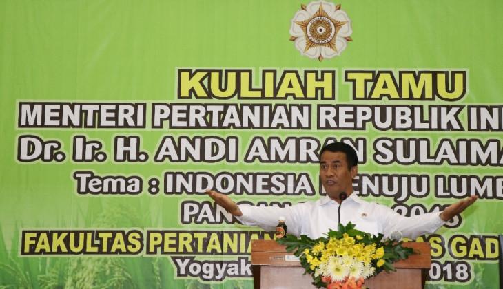 Menteri Pertanian Yakin Indonesia Bisa Menjadi Lumbung Pangan Dunia