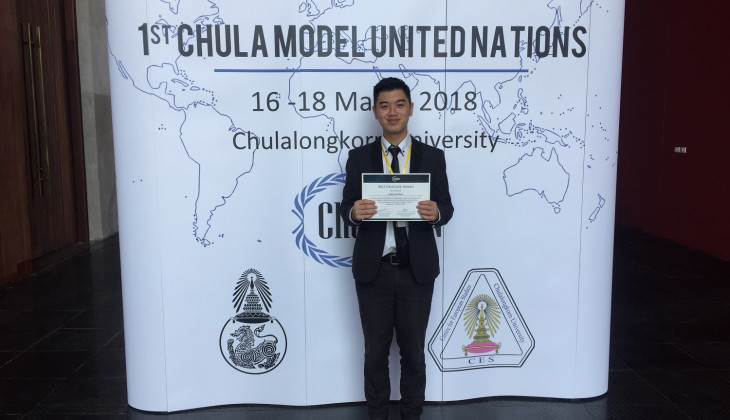 Angelo Raih Predikat Delegasi Terbaik di  Chulalongkorn Model United Nations 2018