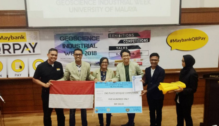 Mahasiswa Geologi UGM Menang Kompetisi Kebumian di Malaysia