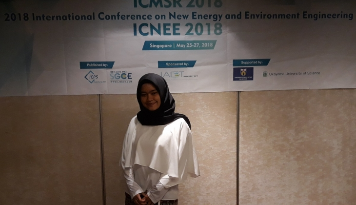 Mahasiswa UGM Ikuti International Conference on New Energy and Environment Engineering