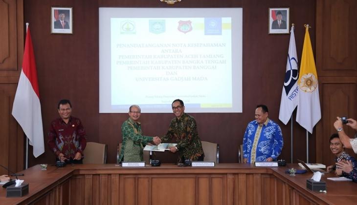 UGM dan Tiga Kabupaten Kerja Sama Pengembangan Pariwisata Daerah