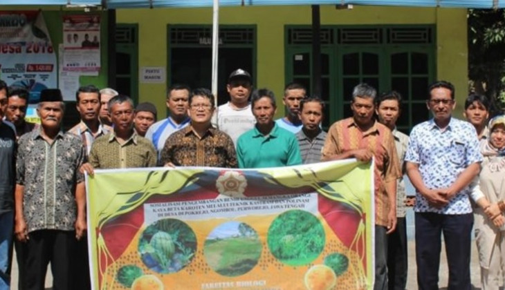 Fakultas Biologi UGM Sosialisasikan Pengembangan Benih Unggul Semangka Orange ke Warga