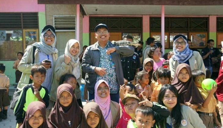 Mahasiswa KKN UGM Kenalkan Reptil sebagai Wahana Edukasi