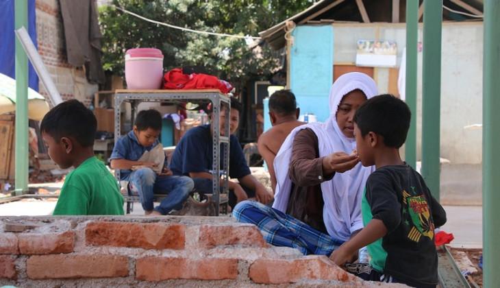 Kisah Korban Gempa Lombok Memilih Mengungsi di Atas Bukit