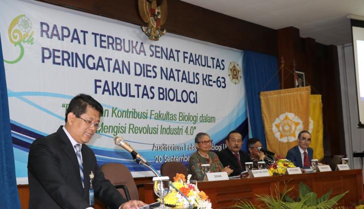 63 Tahun Fakultas Biologi UGM Tingkatkan Kontribusi Bagi Indonesia dan Dunia
