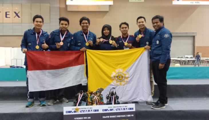 GMRT Raih Juara Kompetisi Robot Dunia di Korea Selatan