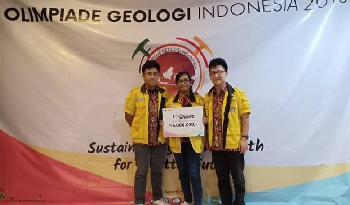 Tim Mahasiswa UGM Juara Geoscience Competition Olimpiade Geologi Indonesia