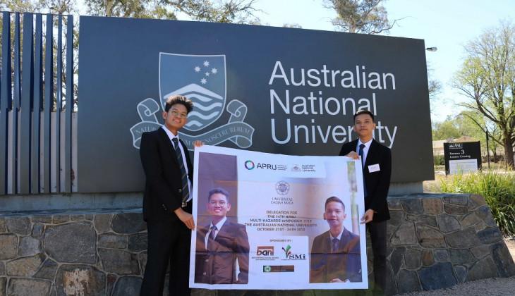 Mahasiswa UGM Ikuti Konferensi Internasional Kebencanaan di Australia
