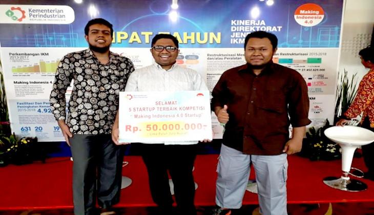 Bantuternak Juara Pertama Kompetisi Startup Kemenperin