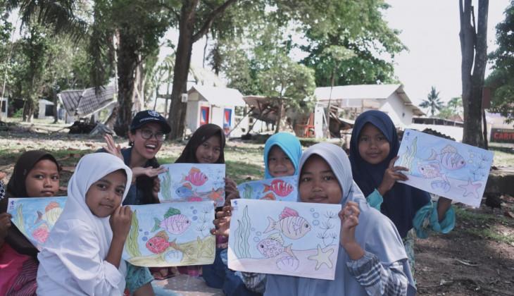 UGM Terjunkan Tim KKN Peduli Bencana di Pandeglang Banten