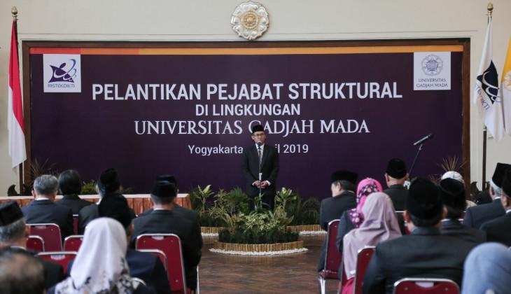 Rektor UGM Lantik 164 Pejabat Baru