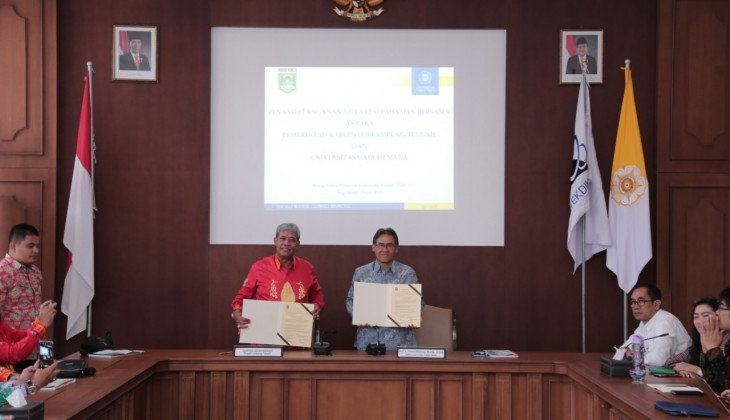 UGM Kerja Sama Pembangunan Daerah Lampung Tengah