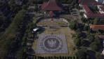 Mahasiswa Baru UGM Bentuk 10 Formasi Simbol Persatuan Indonesia