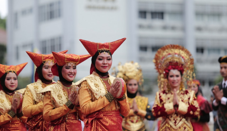 A Variety of Nusantara Cultures Marks 74th Anniversary of Indonesia