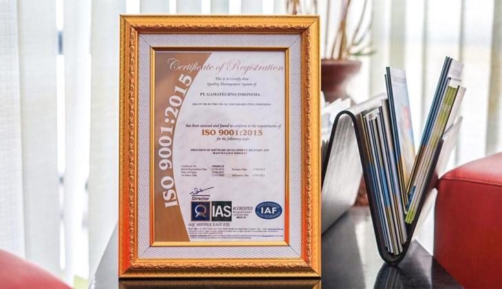 Jaga Kualitas Pelayanan, Gamatechno Pertahankan ISO 9001:2015