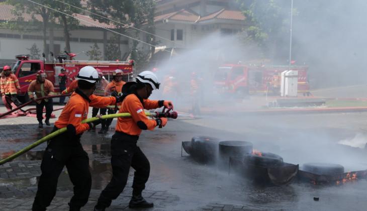 Pemadam Kebakaran UGM Ikuti Latihan Gabungan Damkar se-DIY