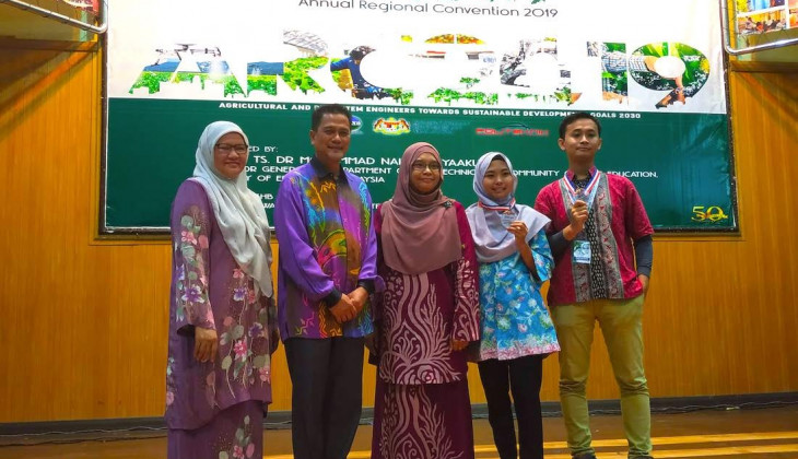 Two UGM Students Win ASEAN Agricultural Engineering Competition