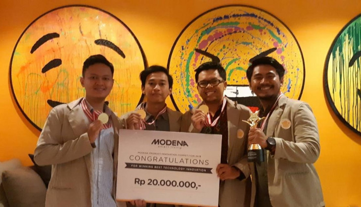 Tim Andeska UGM Raih Best Technologi Modena Competition 2019