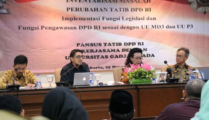 Pakar Hukum UGM: DPD RI Punya Legitimasi Tinggi Tapi Otoritas Rendah