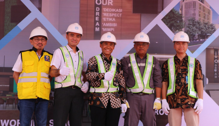 Peletakan Batu Pertama Pembangunan Gedung TILC Sekolah Vokasi