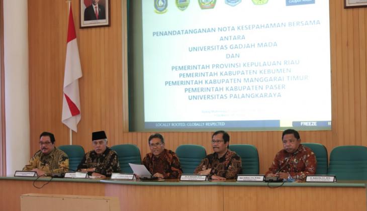 UGM Jalin Kerja Sama Strategis dengan 4 Pemerintah Daerah