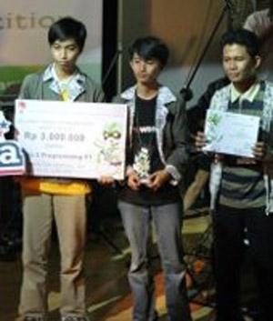 Tim Ilmu Komputer JIKE FMIPA UGM Juara III Kompetisi Programming