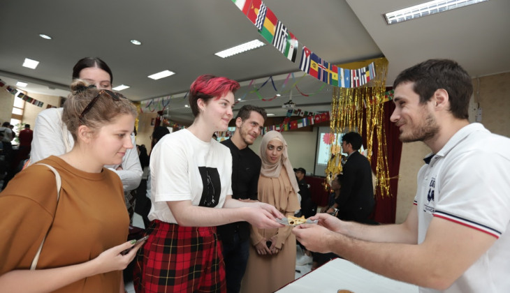 International Students Held A Gathering Event
