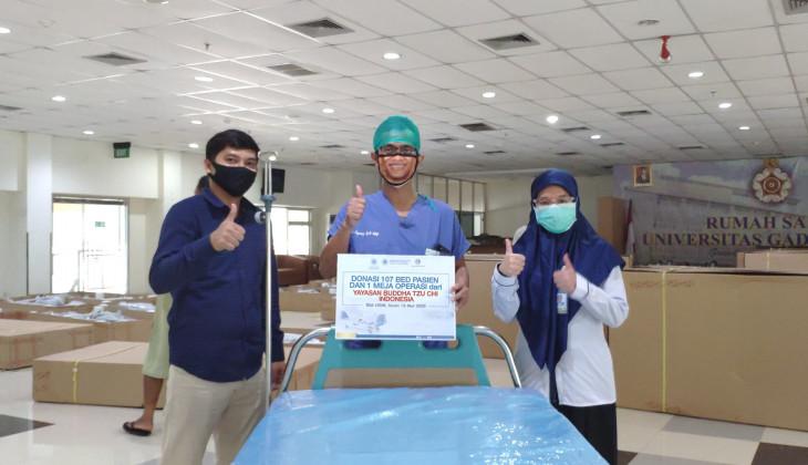 RSA UGM Terima Bantuan 107 Bed untuk Pasien Covid-19