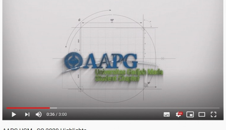 AAPG UGM SC Juara 2 Kompetisi Internasional AAPG Student Chapter Youtube Video Contest 2020