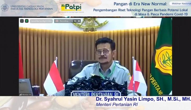 Menteri Pertanian Minta Dukungan Akademisi Majukan Pertanian Nasional