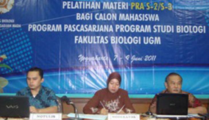 Gelar Pelatihan, Fakultas Biologi Bekali Calon Mahasiswa S-2/S-3