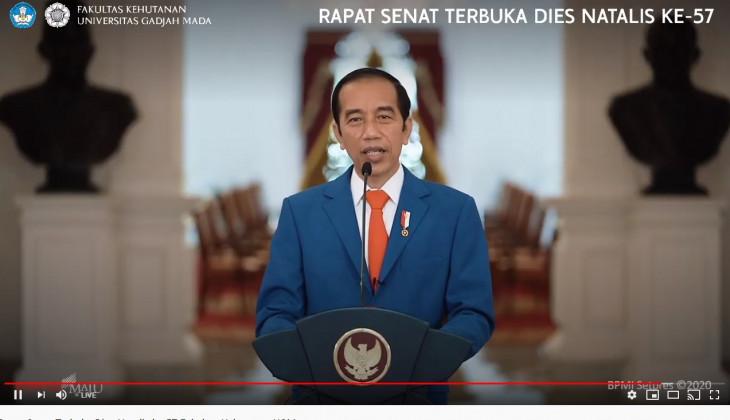 Pesan Presiden Jokowi di Dies Natalis ke-57 Fakultas Kehutanan UGM