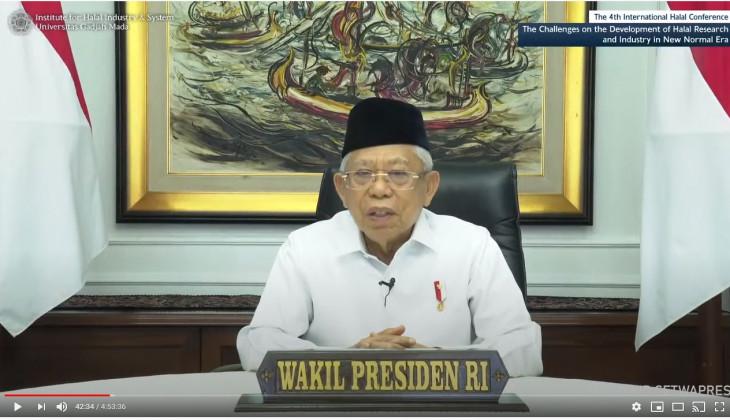 Wapres Ma'ruf Amin Paparkan Strategi Indonesia Kuasai Pasar Halal Dunia
