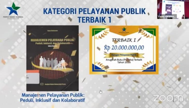Buku Karya Mendiang Prof. Agus Dwiyanto Raih Anugerah Buku (Pustaka) Terbaik 2020
