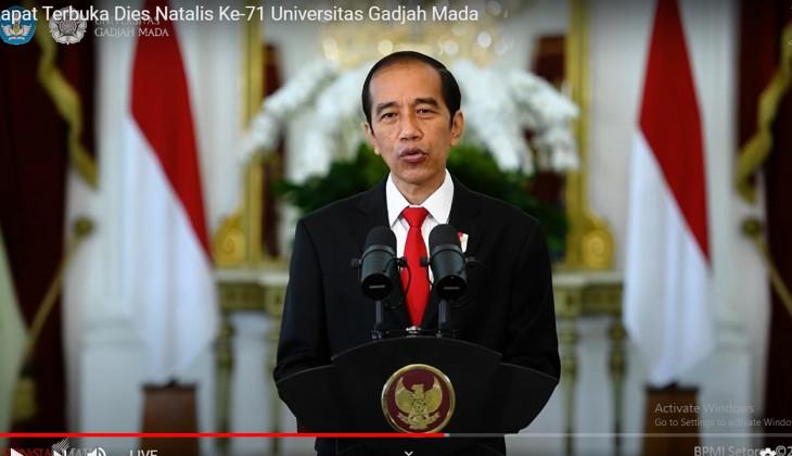 Presiden Joko Widodo Minta UGM Pacu Kontribusi Untuk Pembangunan Inklusif