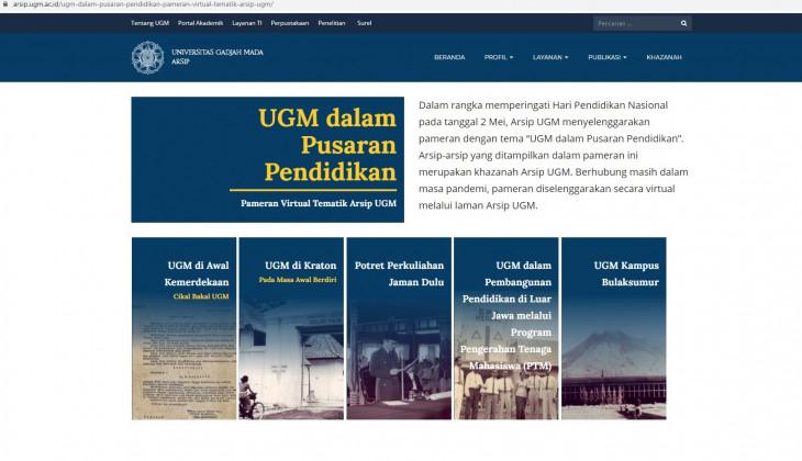 Peringati Hardiknas, UGM Gelar Pameran Arsip Virtual