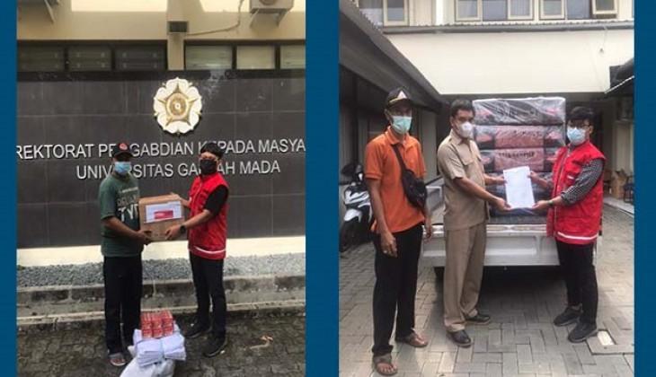 DERU UGM Kembali Salurkan Bantuan Untuk Penanganan Covid-19