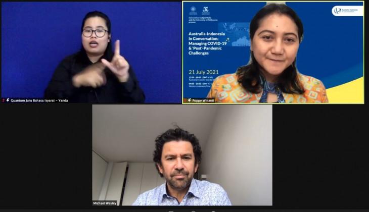 UGM dan University of Melbourne Gelar Konferensi Penanggulangan Pandemi