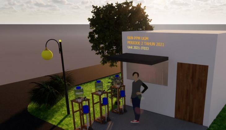 Mahasiswa KKN PPM UGM Ciptakan Desain Alat Cuci Tangan Sistem Injak Terjangkau
