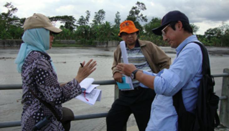 Peneliti UGM dan Kyoto University Pantau Aliran Lahar Dingin di Kali Opak dan Gendol