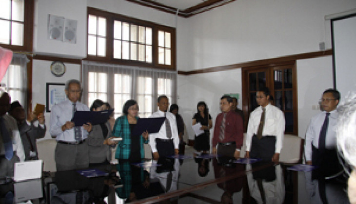 UGM Lantik Pejabat Baru P3 dan LPPT