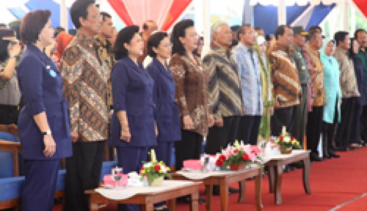 Ani Yudhoyono Resmikan Desa Sejahtera Hargotirto, Binaan UGM-SIKIB
