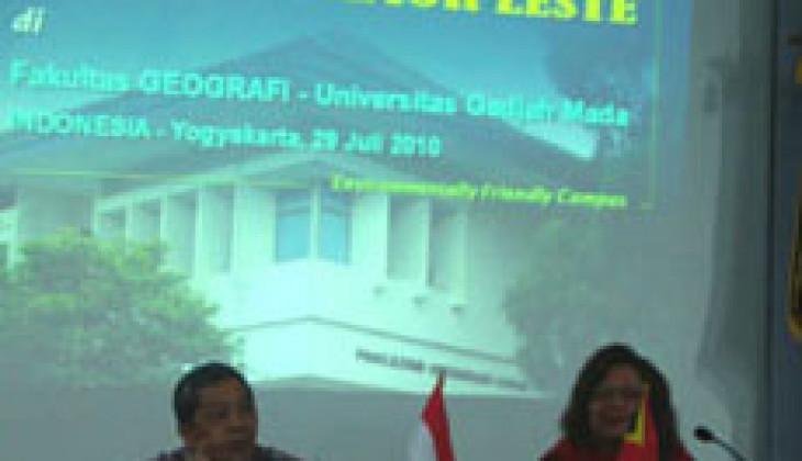 Fakultas Geografi UGM Terima Kunjungan Komisi D Republik Timor Leste