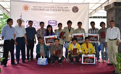 Unila, UGM dan UI Juara Lomba Rancang Kuda-kuda