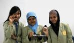 Yulfa Intan Yuraida, Yudia Tirta Karunawardani dan Estri Pamungkasih pada Pekan Kreatifitas mahasiswa