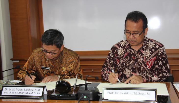 Kejar Pembangunan, Provinsi Kaltara Jalin Kerjasama Dengan UGM
