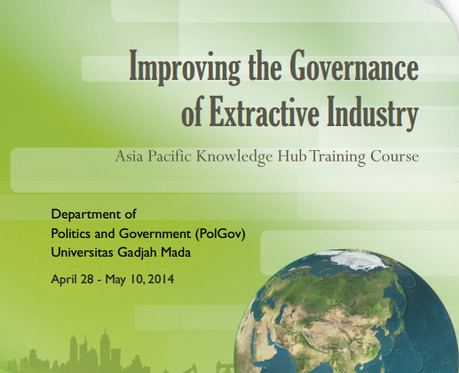 Scholarship for Improving The Governance of Extractive Industries training are available