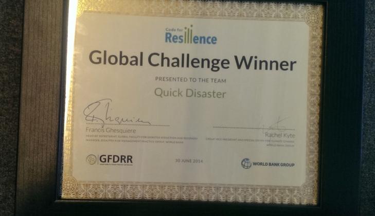 Tim Aplikasi Quick Disaster UGM Raih Global Winner di London
